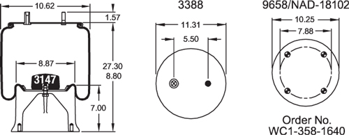 W01-358-8792 Firestone Air Spring Assembly