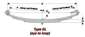 US-2012 Type EE (Eye/Loop) Utility and Boat Trailer Spring