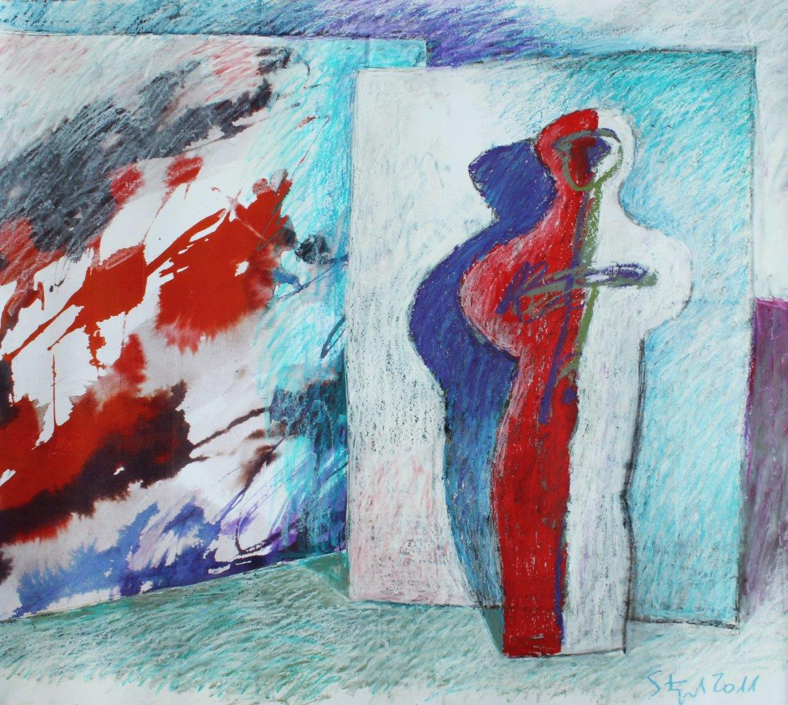 01 untitled - pastel, acrylic and collage - cm105x91