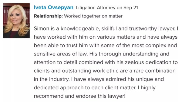 Attorney Endorsement 1