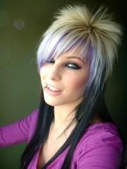 medium length emo hairstyles