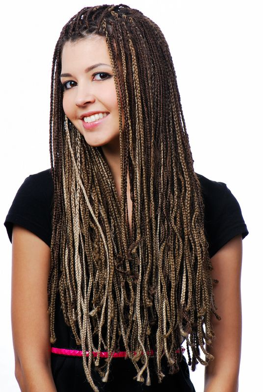 White With Black Hair Braids Extensions