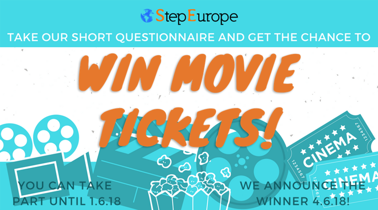 TAKE OUR SHORT QUESTIONNAIRE AND GET THE CHANCE TO WIN MOVIE TICKETS!