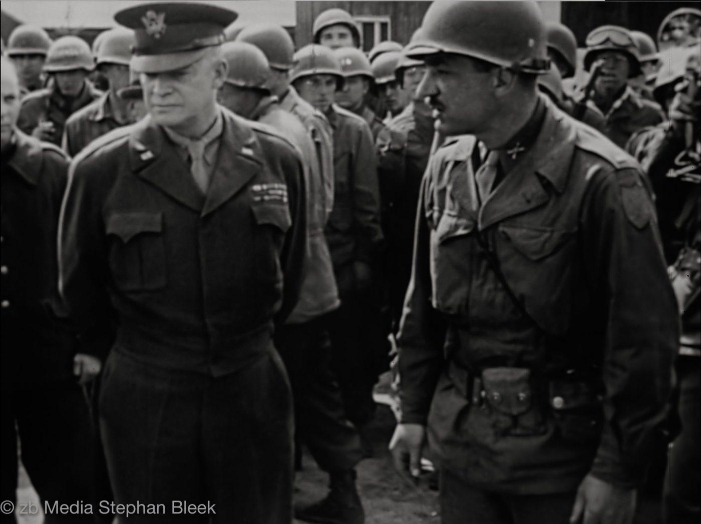 General Eisenhower, Ohrdruf, 1945
