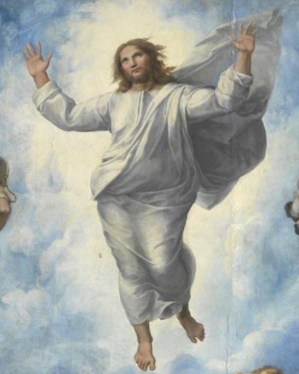 Ausschnitt Raffael - Die Verklärung Christi.