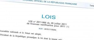 loi de finances rectificative