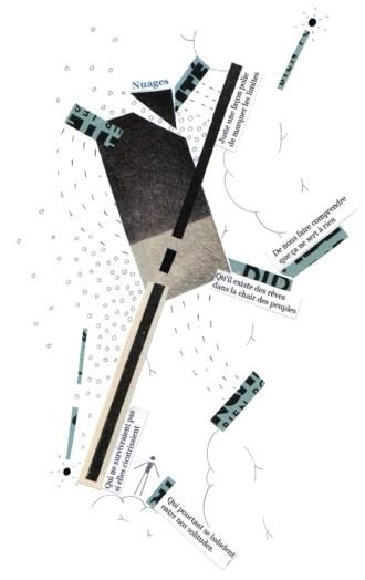 Collage de Thomas Durcudoy - Poème de Stéphane Bataillon