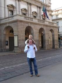 Stéphane and Alma outside La Scala