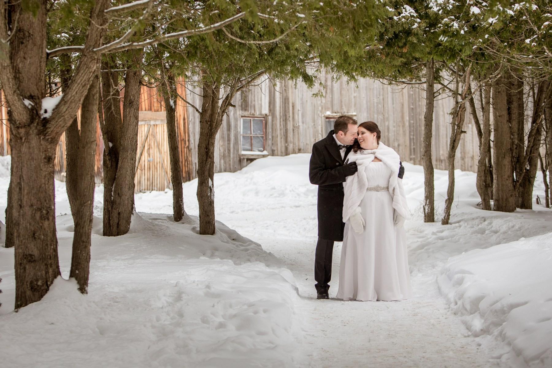 Mariage en hiver au Mont-Tremblant