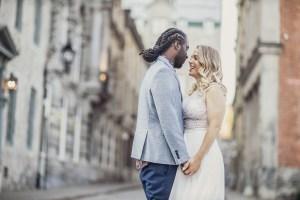 Petit mariage intime dans le Vieux-Montréal