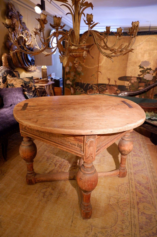 table ronde baroque plateau pliant en