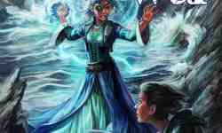 Cover of The Weather War by Stephanie A. Cain: Two women face off on a beach; one holds two daggers, the other is calling lightning to hand. A storm rages in the background