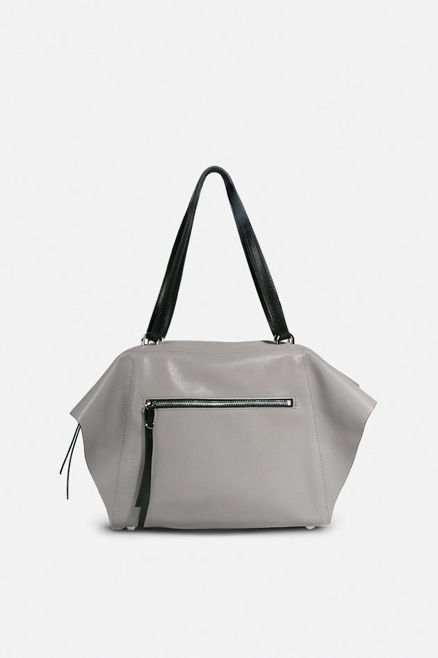 sac Nomade veau satin gris made in france