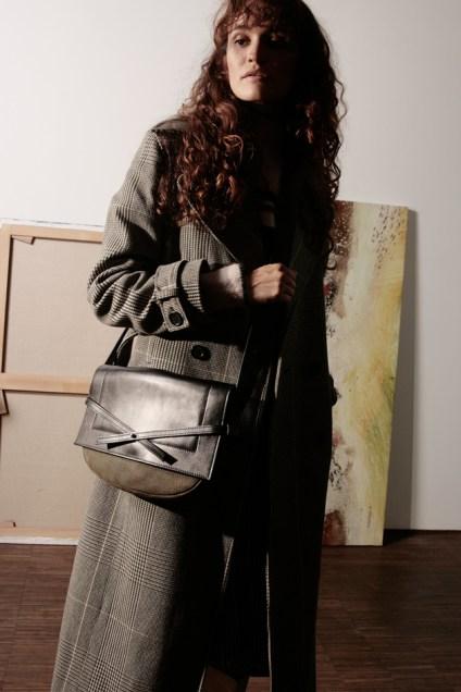 Musette sac cuir Noir Césaire