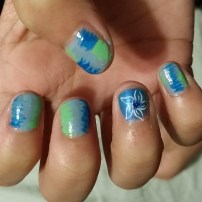 Emma's Seahawk Nails