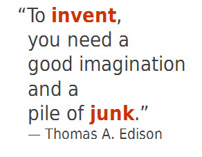 Thomas Edison quote with color on text