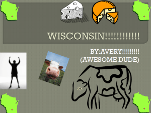 Avery's cover slide on Wisconsin