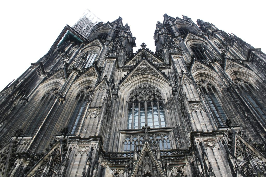 looking up at Cologne Cathedral