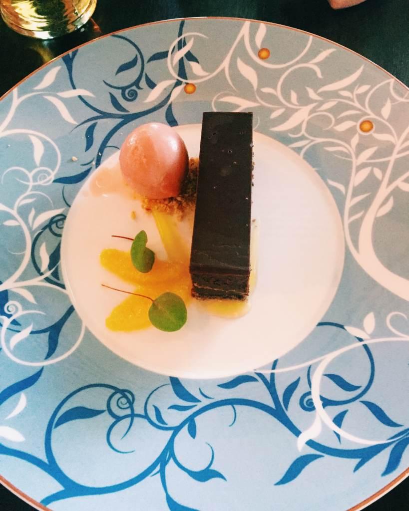 Chocolate Orange Desert - Rockliffe Hall Brasserie