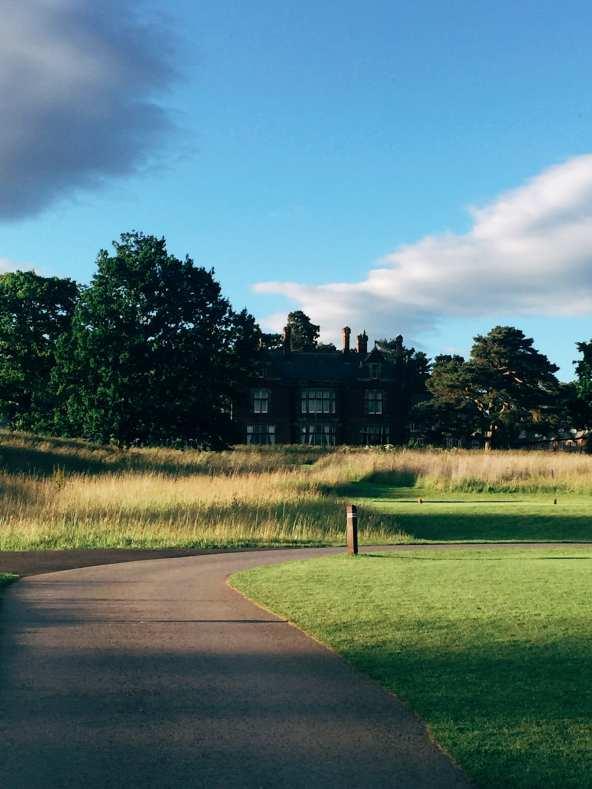 Rockliffe Hall path to Golf Club