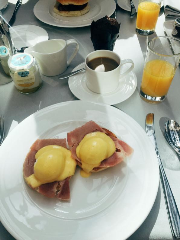 Eggs benedict - The Orangerie restaurant - Rockliffe Hall