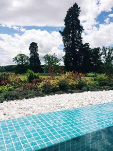 Infinity pool at Rockliffe Hall spa garden