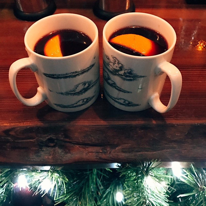 Mulled wine at the Botanist