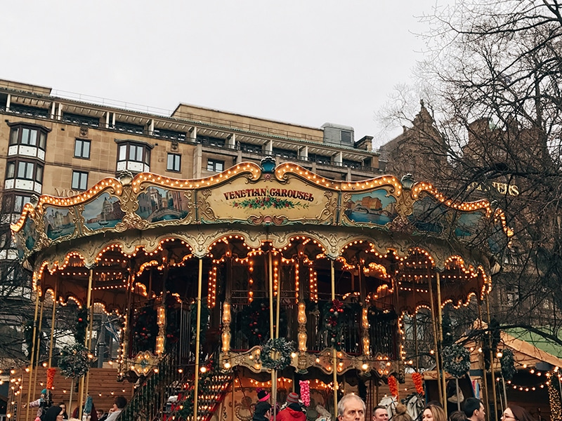 Venetian carousel at Edinburgh's Christmas market
