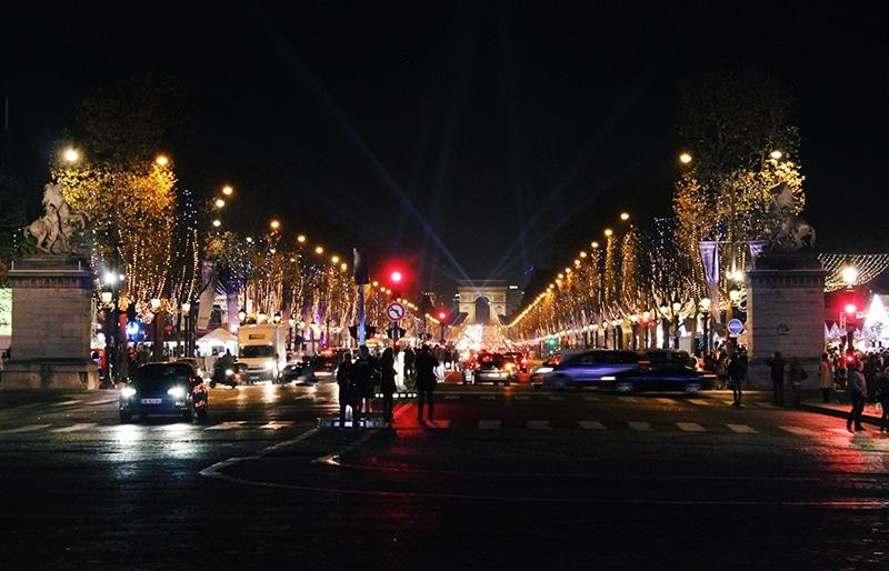 Champs Elysees Christmas market