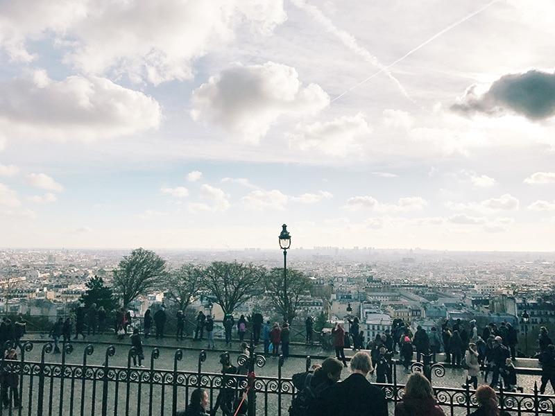 Paris rooftops from Montmartre