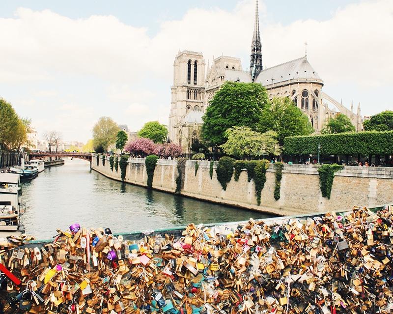 Love lock bridges