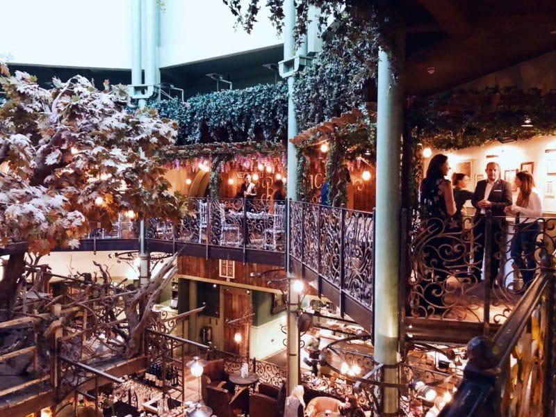 The Botanist mezzanine