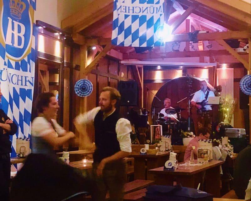 Oktoberfest at Hofbräu Wirtshaus on Speersort, Hamburg