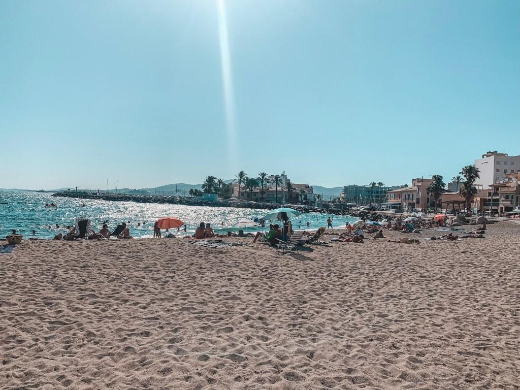 The coastal town of Portixol, Mallorca