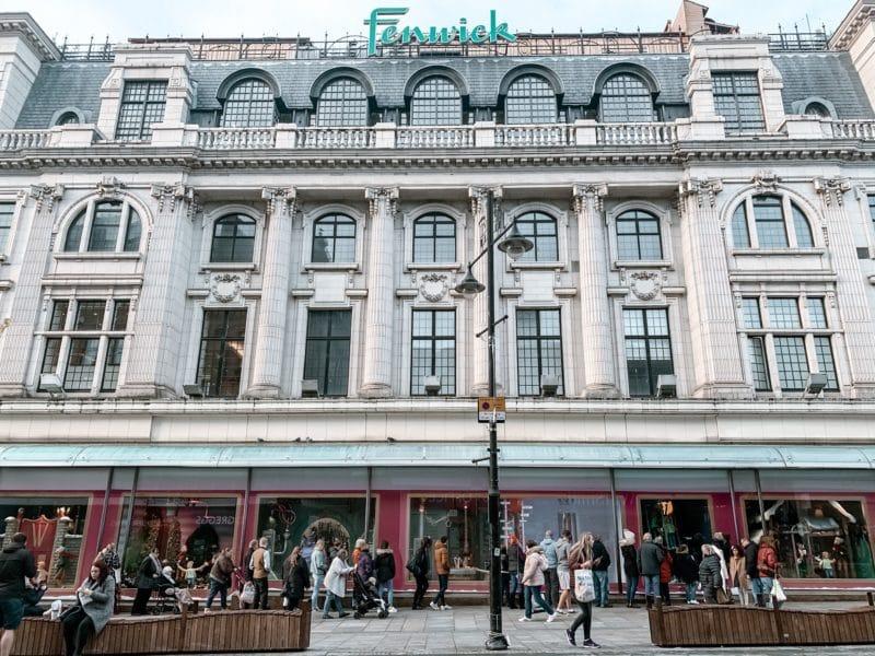 Fenwick's window 2019 Charlie & The Chocolate Factory