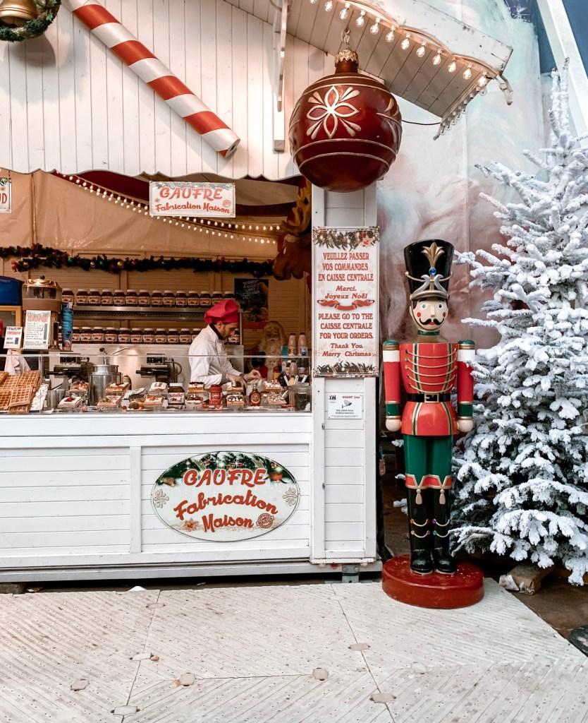 food stall at paris christmas market