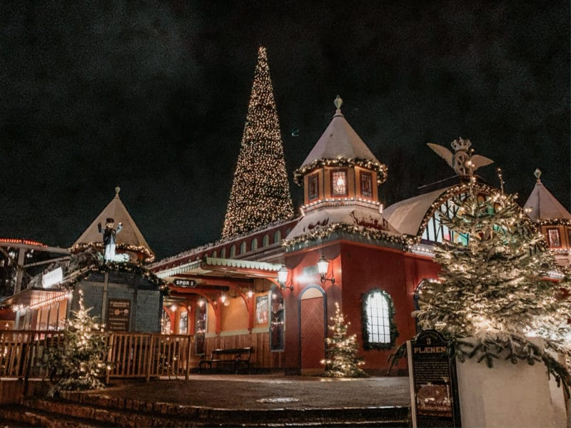 Tivoli Copenhagen at Christmas time