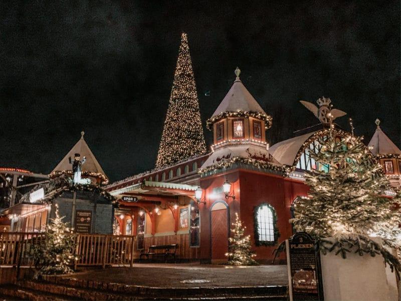 Tivoli Copenhagen at Christmas time
