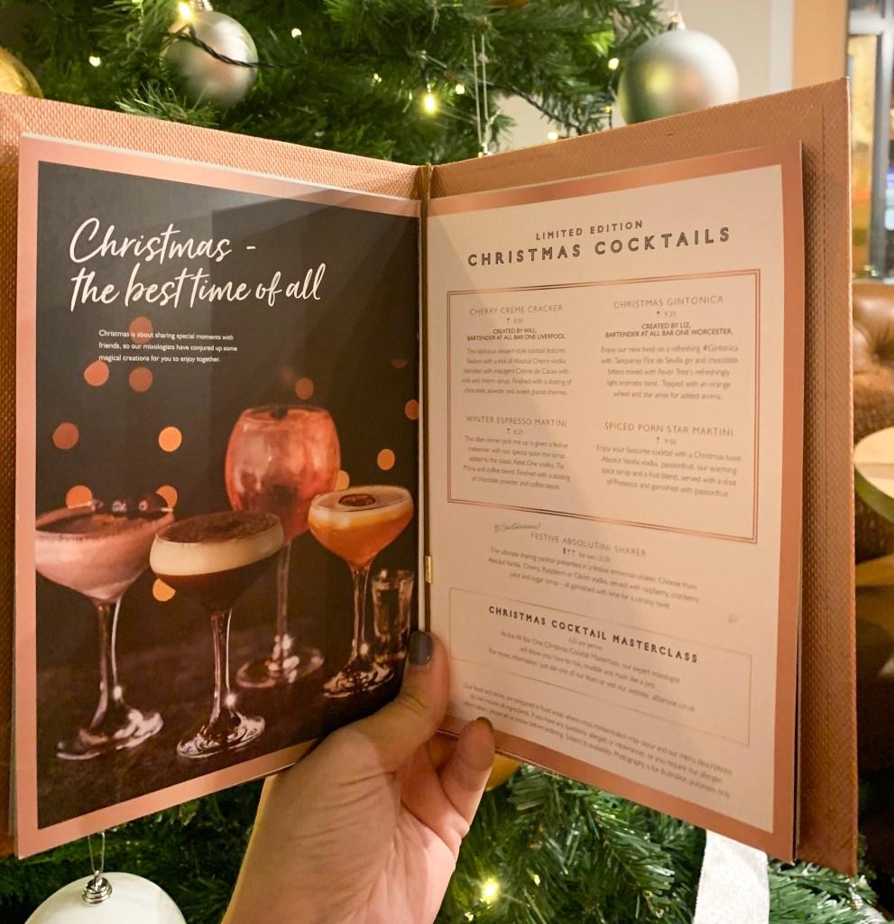All Bar One cocktail menu