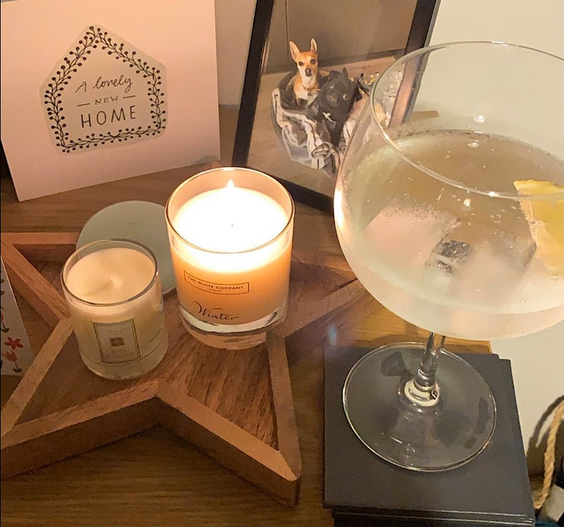 candles and gin