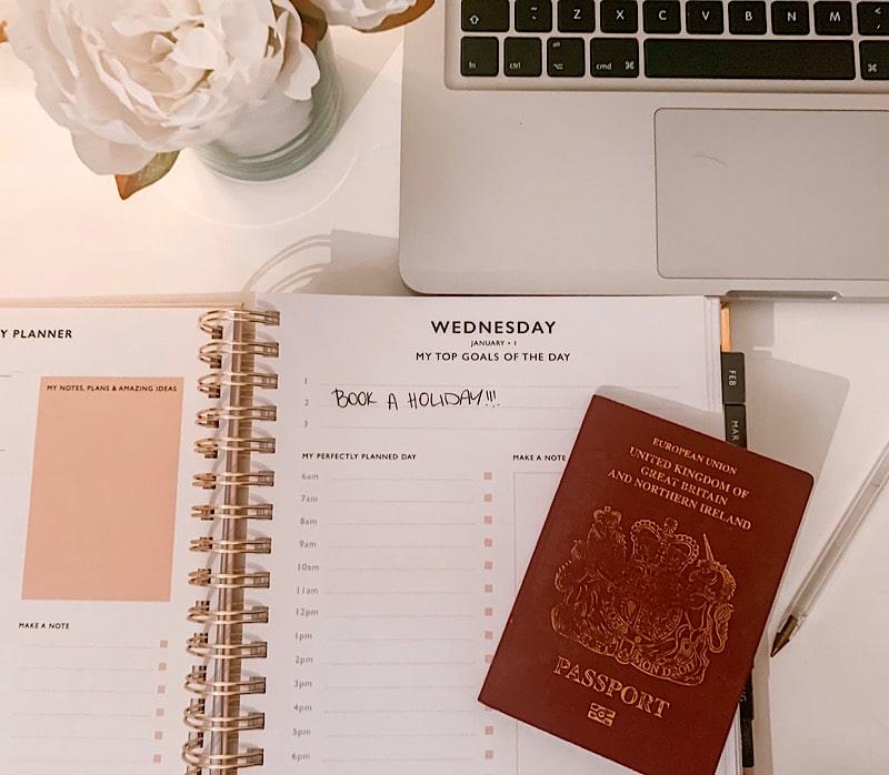 2020 diary and passport