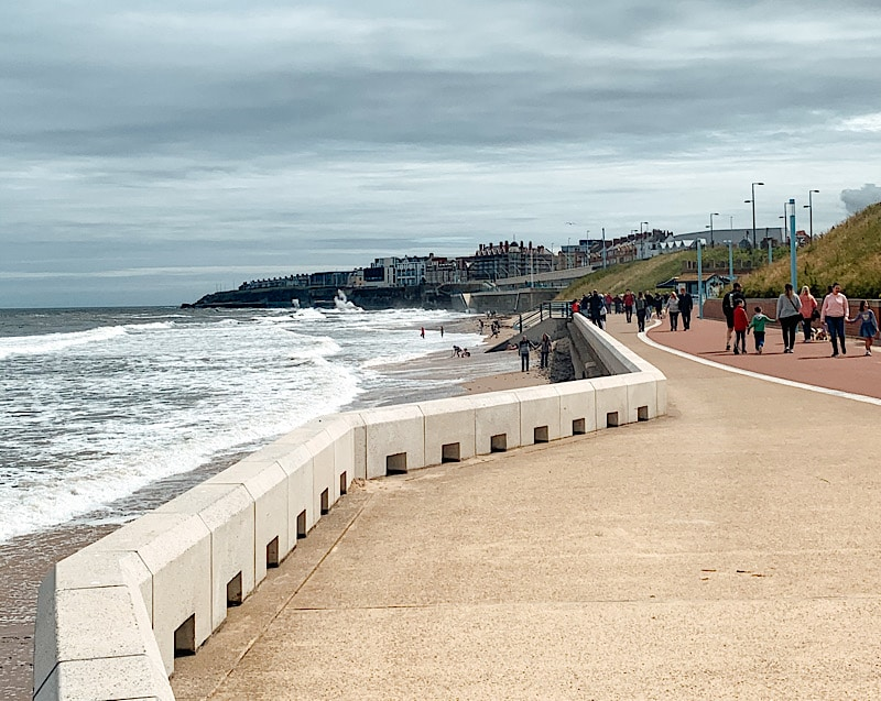 Whitley Bay sea front promenade