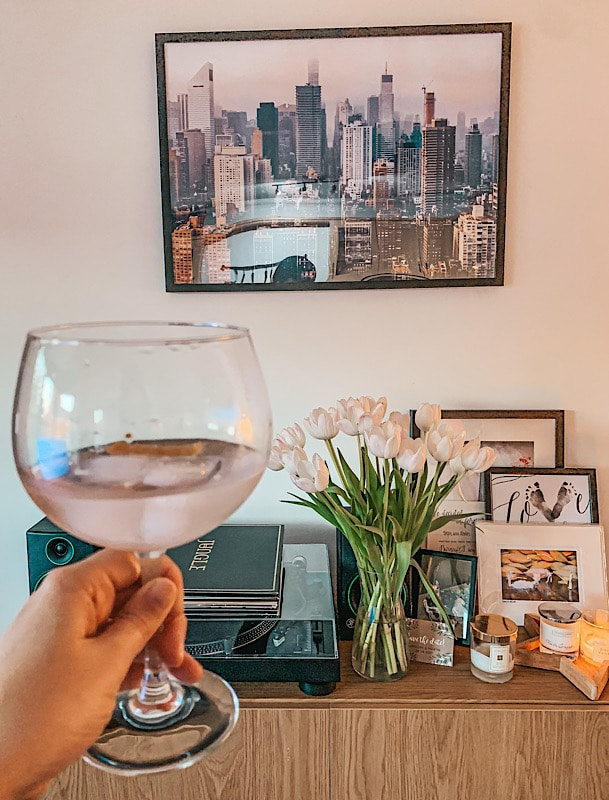 New York print and G&T