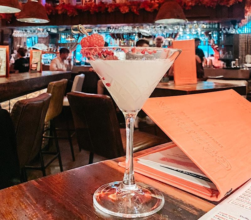 Lychee martini cocktail at Geisha Newcastle