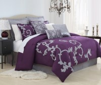 Bedroom: Comforter Sets Purple