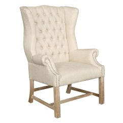 Tufted Wingback Dining Chair Ice Fishing With Rod Holder Room Grey Patterned Living