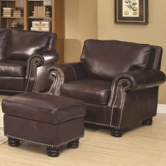 Living Room Chair And Ottoman Modern Arm Chairs Furniture Alluring Leather For Cozy
