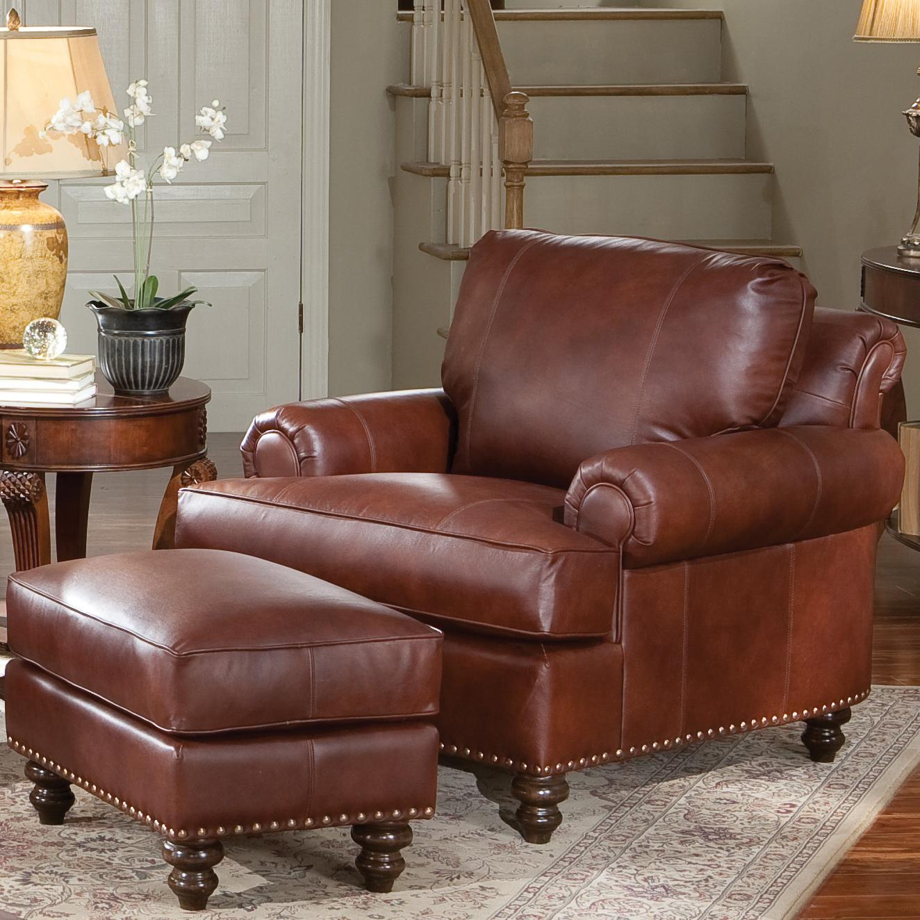 living room chair with ottoman empire modern executive furniture alluring leather and for cozy