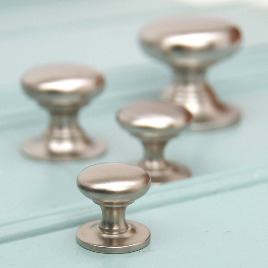 lowes kitchen cabinet handles baby gate for decor: cool brushed nickel door knobs furniture ...