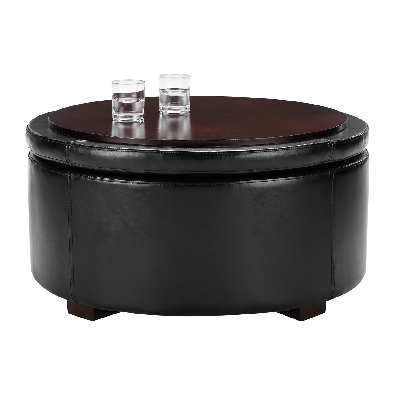 Large Square Storage Ottoman Coffee Table